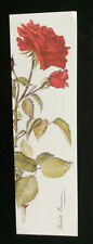 THE HUMANITY ROSE; RED CROSS BOOKMARK; wide version ; unused (Bl)