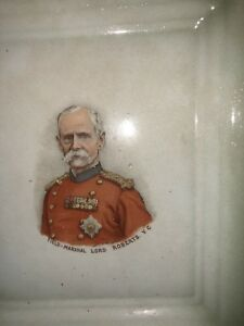 ANTIQUE LUSTREWARE DISH / WALL PLAQUE - FIELD-MARSHAL LORD ROBERTS VC