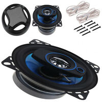 2x 4Inch Car Coaxial Horn Audio Music Stereo 100W 3Way HIFI Speaker Loudspeaker