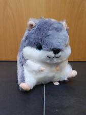 Stofftier Hamster Plüschtier Kuscheltier Glitzeraugen 25cm grau