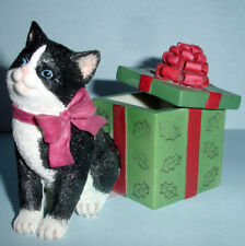 Lenox Holiday Kitty Figurine Cat+Gift Box Handpainted 2014 Limit Edt 845384 New