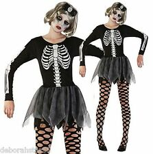 Ladies Skeleton Halloween Fancy Dress Costume Size 12 14 16 Stretch Tutu Dress