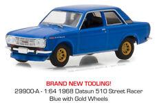 Greenlight Datsun 510 1968 Street Racer Blue 29900 A 1/64