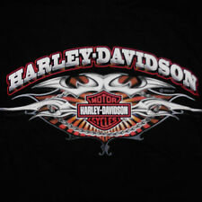 Harley Davidson Logo T-Shirt Large Tribal Bar & Shield Motorcycle Chain NC
