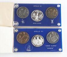 NASA Medals (21 total) Apollo 1 7 12 14 15 16 17 Silver Nickel Bronze w/ Case
