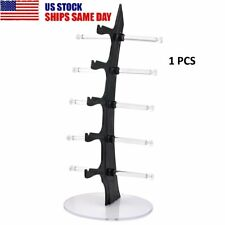 5 Layer Acrylic Clear Eyeglasses Glasses Display Stand Rack Sunglasses Holder Us