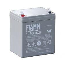 Fiamm 12FGHL22 Batteria ermetica al piombo ricaricabile 12 V 5 Ah Long Life