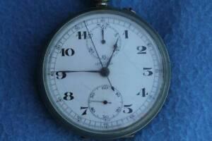 Deck watch chronometer pocket chronograph Lemania IIww not working