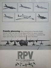 8/1972 PUB TELEDYNE RYAN RPV REMOTELY PILOTED VEHICLE LOCKHEED HERCULES AD