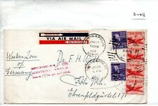 United States Commercial  Cover -(3043) 1953 to Germany returned for add postage