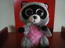 Ty Beanie Boos Rocco the Racoon. 6 inch NWMT. IN STOCK NOW.