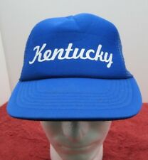 Kentucky Blue White Adjustable Snapback Trucker Style Hat VTG Hat