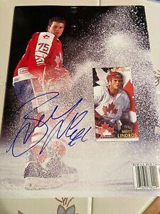 Beckett Hockey Magazine June 94 #44 Eric Lindros Flyers Cover Brett LINDROS AUTO
