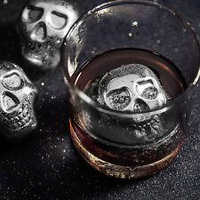 Fancy Skull Shape Whiskey Ice Cube Wine Ice Stone Mold Party Bar Tool Home Decor