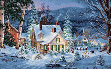 Cross Stitch Kit Gold Collection Winter's Hush Christmas Holiday Town #70-08862