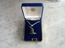 New Bird  Silver Pewter Charm Necklace Pendant Jewelry Gift Box