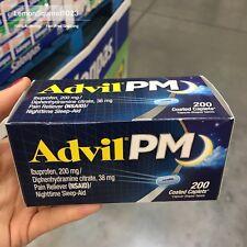 Sealed Advil PM, 200 Caplets.Pain Reliever (NSAID)/Nighttime Sleep-Aid