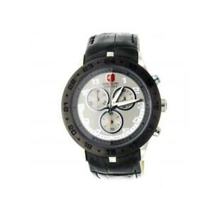 Reloj De Hombre SWISS MILITARY HANOWA 64180007 Chrono Cuero Negro SWISS MADE