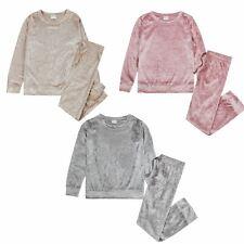 Girls Crushed Velvet Pyjamas Childrens/Kids Pyjama Set Age 7-13 Years
