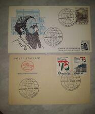 Busta primo giorno e cartolina centenario Corriere delle Sera del 1976