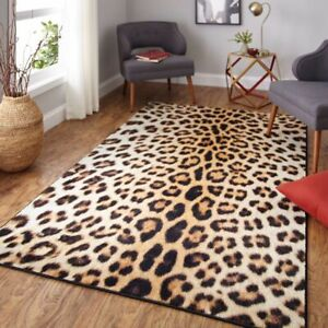 Modern Leopard Imitation Print Area Rug Carpet Non Slip