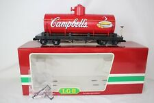 LGB G SCALE #44800 CAMPBELL'S SOUP SINGLE DOME TANK CAR, EXCELLENT, BOXED