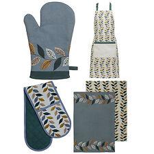 100% Cotton Fern Kitchen Chefs Apron Double Oven Glove Mitt Tea Towels Cloths