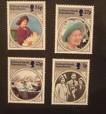 Falkland Island Dependencies 1985 85th Birthday Queen Mother  MNH UM unmounted