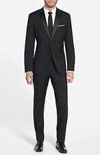 Mens Black Groomsmen Tuxedo Business Man Formal Wedding Evening Party Suit  UK