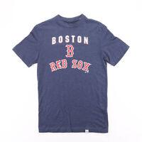 MAJESTIC Boston Red Sox Blue Sports Short Sleeve T-Shirt Mens S
