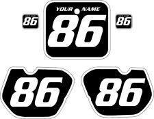 1985-1986 HONDA CR 125 Custom Pre Printed Black Backgrounds White Bold Pinstripe