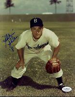 George Shuba Brooklyn Dodgers Signed Jsa Sticker 8x10 Photo Authentic Autograph