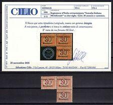 SOMALIA 1906 Segnatasse 3x30c MNH** (CL) Certificato