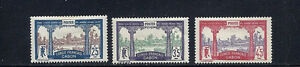GABON 1910 LIBREVILLE (Scott 39 41 and 43) F MH read desc