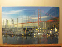 Vintage San francisco Bridge scene poster 841