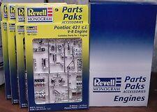 4 PONTIAC 421 V-8 ENGINE MODEL KITS CHROME 1:25 REVELL 1998 MINT NO LONGER MADE