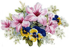 VinTaGe ImaGe GorGeouS LusH PinK FloRaL BouQueTs ShaBby WaTerSliDe DeCals