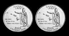 2008 P+D Hawaii State BU Washington Statehood Quarter Set ~ From U.S. Mint Rolls