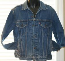 Men's Vintage Authentic Levi Jeans Denim Trucker Jacket  Made In USA  Size 42 R