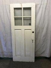 Wood Exterior Door 4 Lite Architectural Salvage 2 Panel 33-1/2x83-3/4