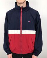 Vintage 90s TOMMY HILFIGER Casual Jacket | USA Flag Retro | Medium M