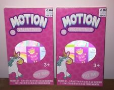(2) Brand New Motion Bear & Unicorn 32 ct. Valentines Day Cards (64 Cards Total)