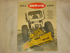 1975 SERVIS FULL LINE,CUTTERS,SHREDDERS, MOWERS, BLADES, SCRAPPERS BROCHURE NICE