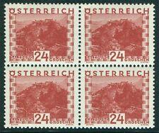 Österreich 1929 Landschaften Nr. 504 4 er Block postfrisch 200 €