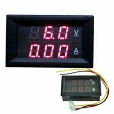 0-100V 0-50A Dual DC LED Digital Volt meter Power Meter 12v Ammeter Voltage AMP