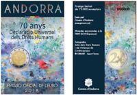 2 Euro Sondermünze Andorra 2018 70. Jahre Allgemeine Deklaration Menschenrechte