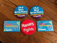 Harrah's Casino Vintage Pin Lot 5 Super Summer Fights I Play With Better People