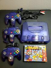 ALL Nintendo 64 N64 Console Funtastic Bundle Clear Atomic Rare Grape Purple Lot