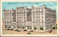 Vintage 1920's Auditorium Hotel, Fifth Street Los Angeles California CA Postcard
