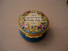Halcyon Days Enamel Box For Your New Baby Boy